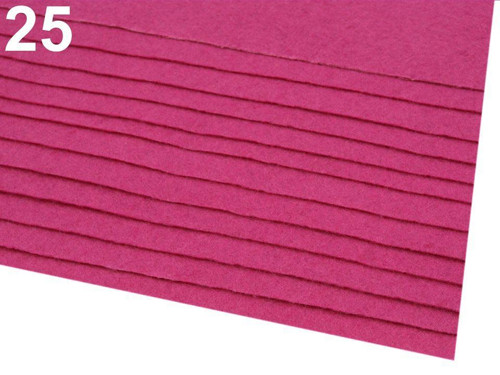 Arch plsti - filcu- 20x 30 cm : Růžovofialová