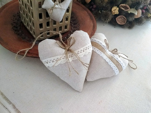 Dekorační srdíčka s levandulí... Ivory Love 2 ks