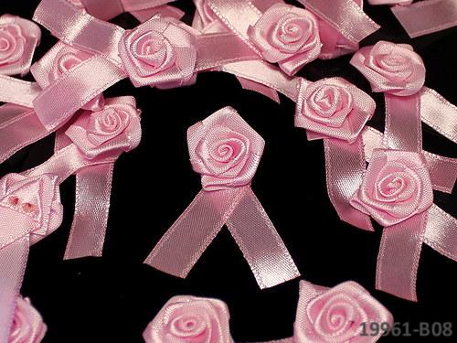 19961-B08 Svatební vývazek RŮŽOVÁ růže,  bal.5ks