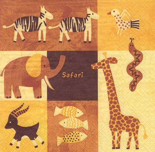 Ubrousek - safari