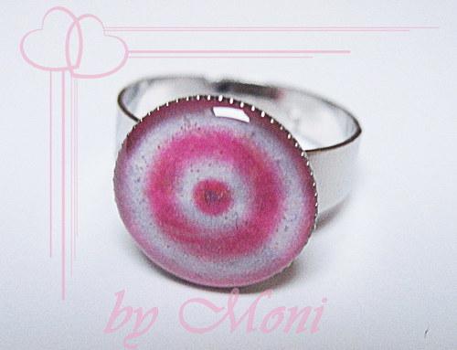 Prstýnek růžový s kruhy