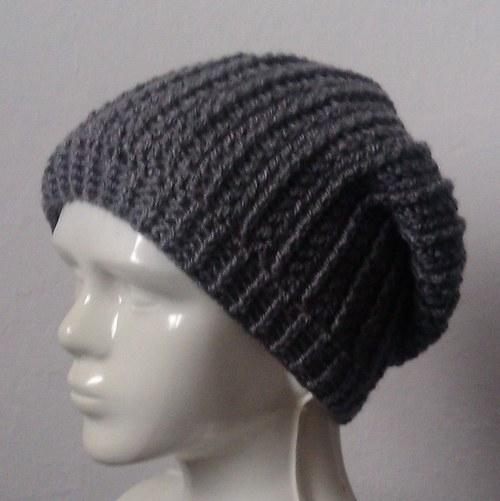 Dámská čepice - šedá