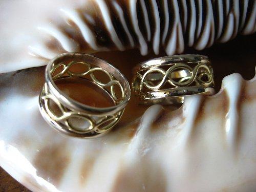 Svatební prsteny kombinované.