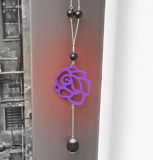 Růže - dlouhý náhrdelník
