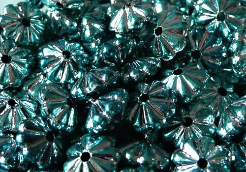 Plastová rondelka 6 x 4 mm - modrá / 10 ks