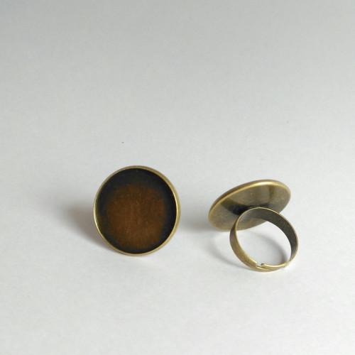 Prsten s lůžkem (23mm) - staromosaz