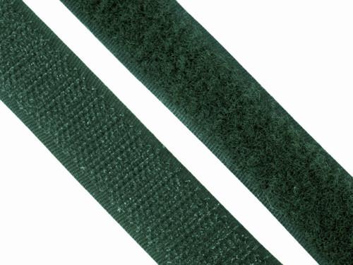 Suchý zip, 20mm, barva tmavě zelená