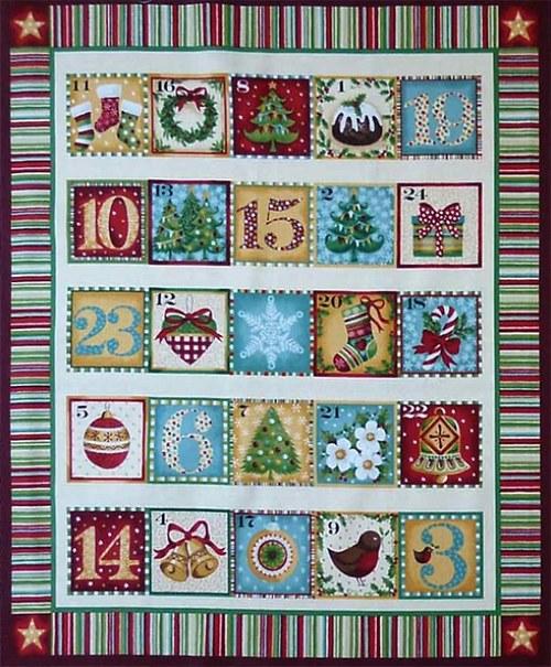 Adventní nástěnný kalendář - okénkový