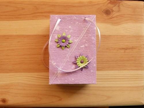 Fialová taštička s kytičkami