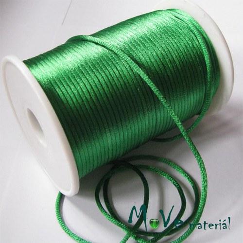 Šňůra Ø2mm saténová, trávově zelená, 1m