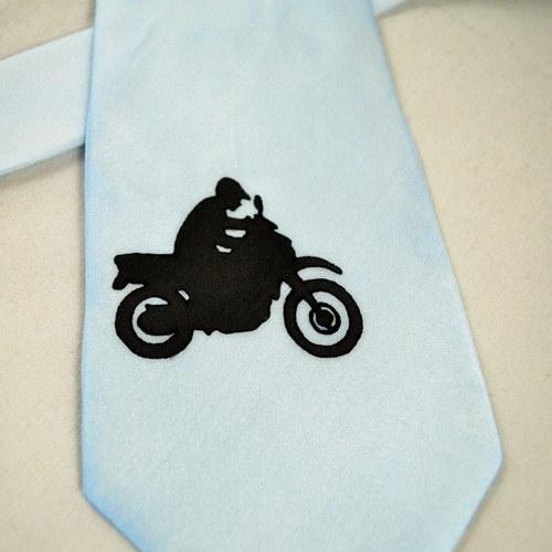 Hedvábná kravata s motorkáři