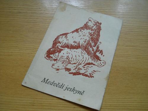 Medvědí jeskyně - reklamní brožurka