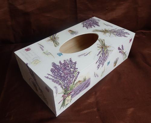 Krabička na kapesníky levandulová