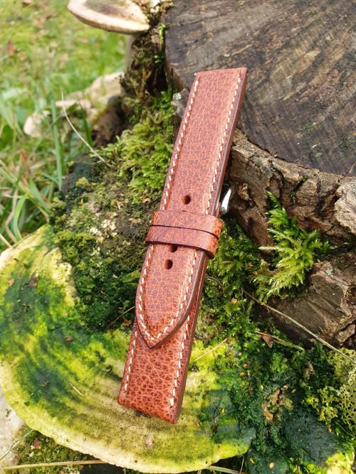 Řemínek na hodinky z Bizoní kůže (koňak)