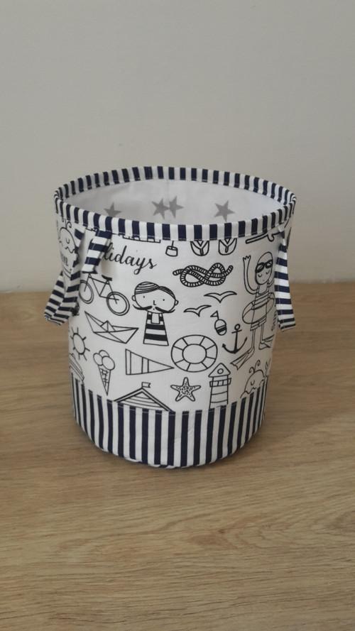 Textilní košík na hračky Námořníci