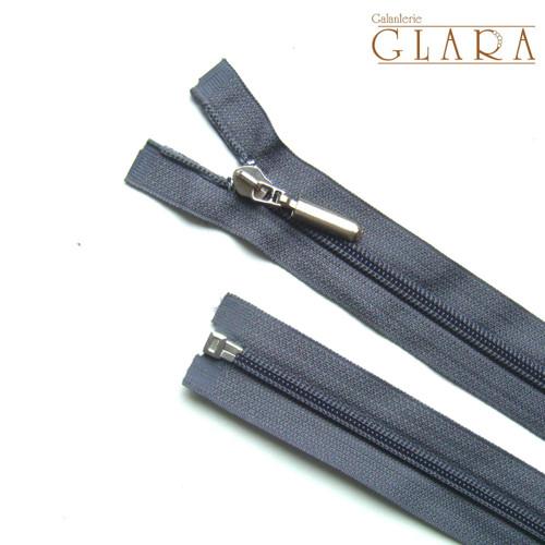 Zip spirálový / 75 cm / šedý / 1 ks