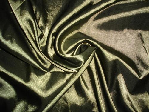 elastický satén khaki cema za 10cm