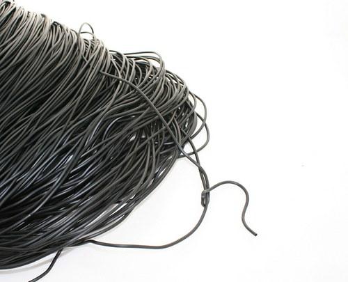 Gumové lanko černé - průměr 2mm