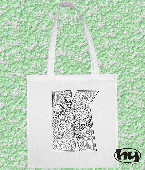 """Písmeno \""""K\"""" - taška k domalování"""