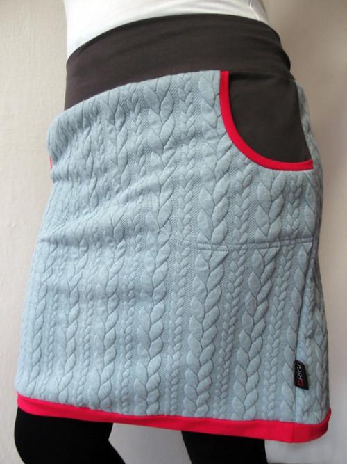Teplá šedá sukně (M-XL)