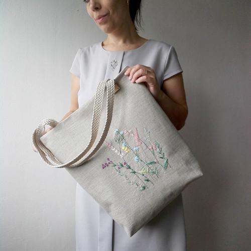 Vyšívaná kabelková taška