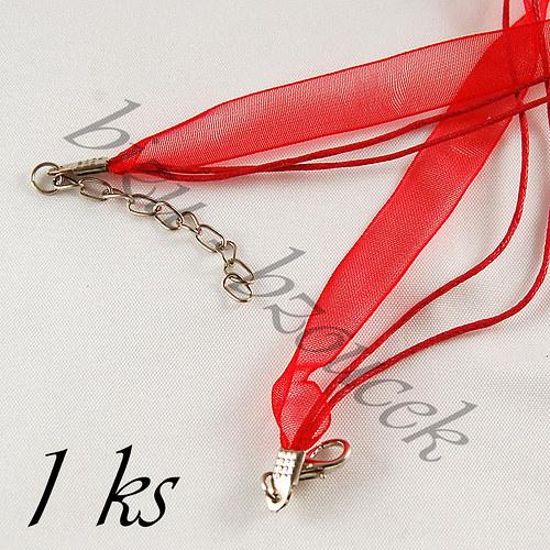 Červený náhrdelník - 1ks