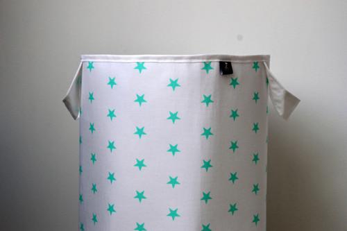 Maxi látkový koš na prádlo/hračky hvězdy bílá