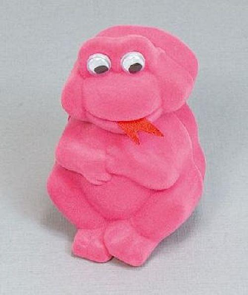 Sametová krabička na šperky - růžová žába