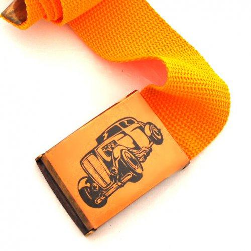 Opasek auto - oranžová
