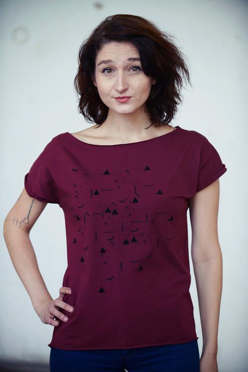 Vínové tričko minimal