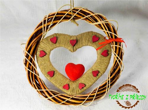 """Valentýnská dekorace \""""Z LÁSKY\"""""""