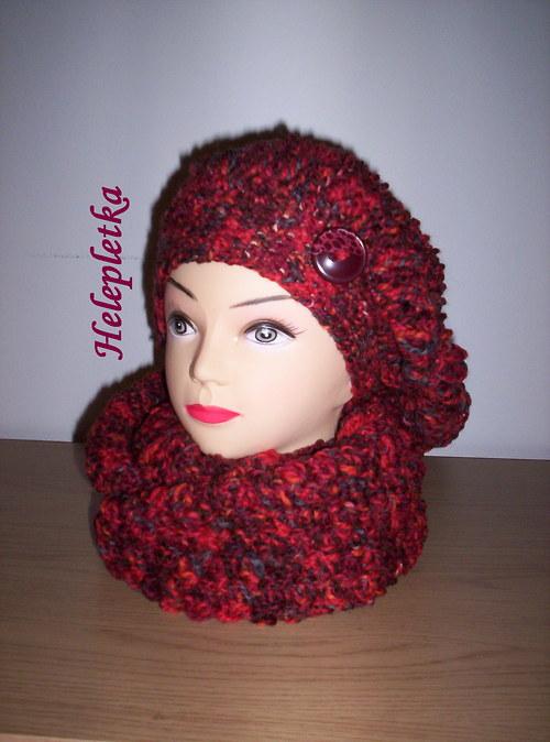 Dámská vlněná čepice - baret