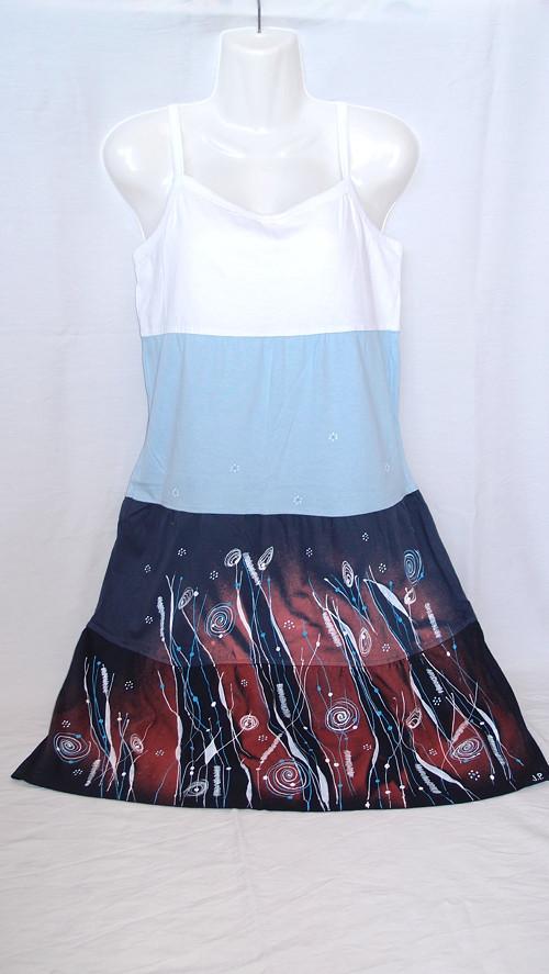 ŠATY V MODRÉ ( M/L) - dámské šaty SLEVA!!