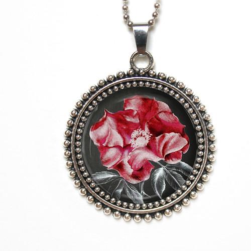 Červené růžičky - autorský náhrdelník