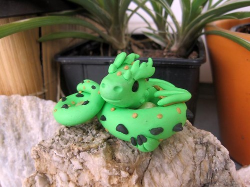Drak do dlaně - zelený