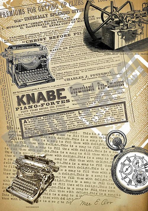 Vintage motiv - noviny