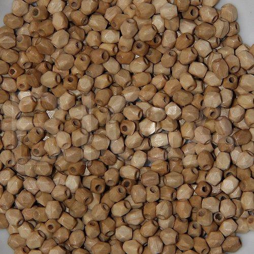 dřevěné korálky - hranolek 5x5mm