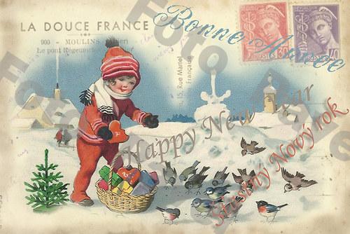 Vintage motiv - vánoce - Nový rok 3