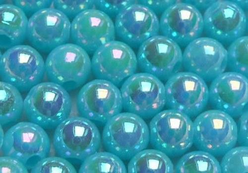Plastové kuličky duhové 4 mm - modrá / 20 ks