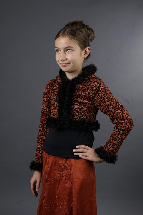 Popis - návod na pletené dívčí bolerko Chilli