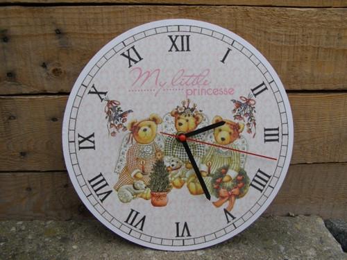 Závěsné hodiny kulaté 27cm - Retro medvídci
