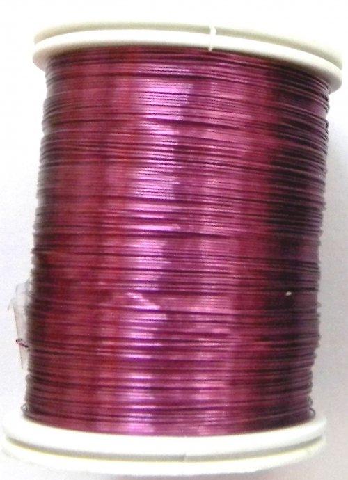 Měděný lakovaný drát 0,8 mm tmavě růžový