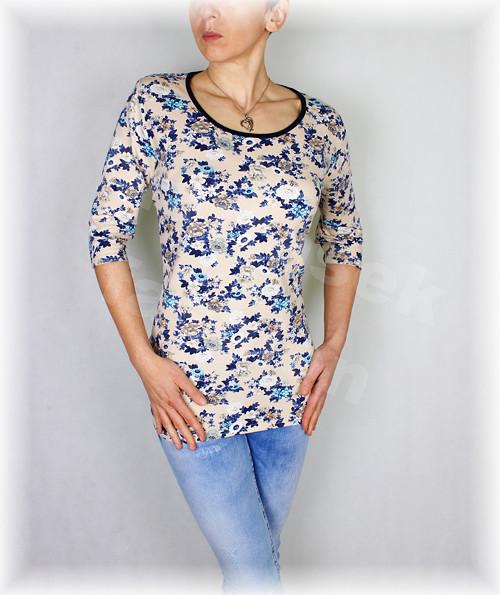 Triko s modrými kvítky vz.377