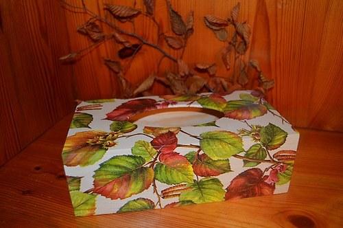 Krabička na kapesníky - 3 oříšky pro Popelku