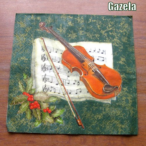 Ubrousek Zátiší s houslemi