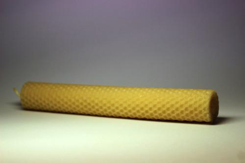 Svíčka ze včelího vosku - velká
