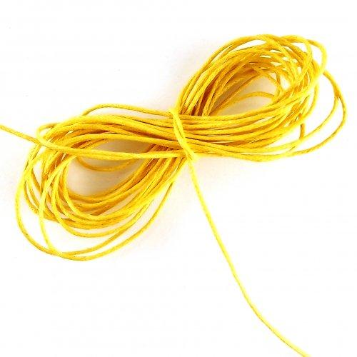 Voskovaná šňůrka žlutá