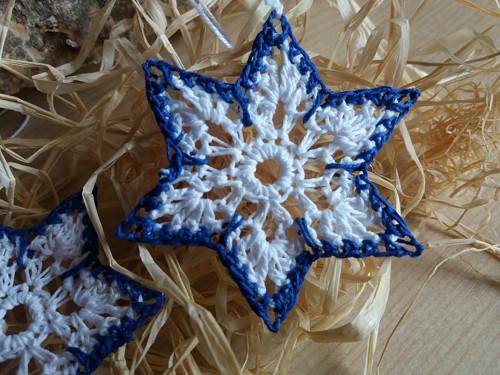 bílo- modrá hvězdička