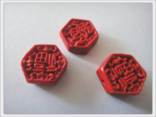 """čínský symbol \""""Fu\"""", cinnabar"""