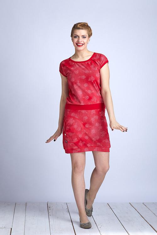 Skirt Red Jeans/Roses